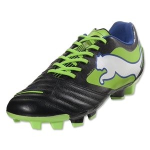 PUMA PowerCat 3.12 FG (Black/Jasmine Green/Monaco Blue)