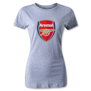 Arsenal Crest Women's T-Shirt (Gray)