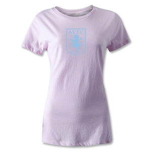 Aston Villa Women's Distressed T-Shirt (Pink)