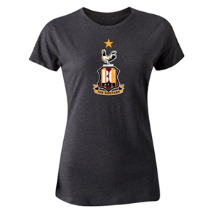 Bradford City Women's Crest T-Shirt (Dark Gray)