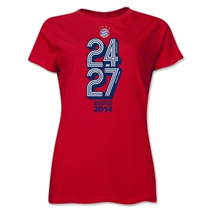 Bayern Munich 2014 Women's Champions T-Shirt (Red)