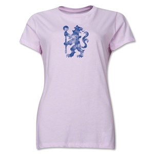 Chelsea Distressed Lion Women's T-Shirt (Pink)