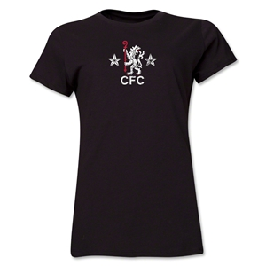 Chelsea Distressed Retro Women's T-Shirt (Black)