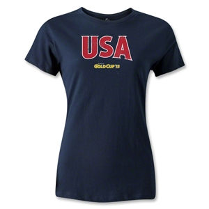 CONCACAF Gold Cup 2013 Women's USA T-Shirt (Navy)