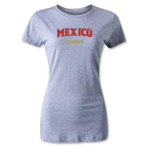 CONCACAF Gold Cup 2013 Women's Mexico T-Shirt (Gray)