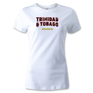 CONCACAF Gold Cup 2013 Women's Trinidad and Tobago T-Shirt (White)