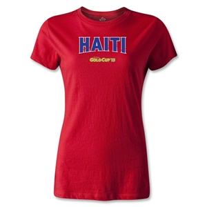 CONCACAF Gold Cup 2013 Women's Haiti T-Shirt (Red)