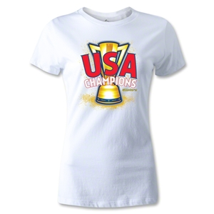 USA CONCACAF Gold Cup 2013 Champions Women's T-Shirt (White)