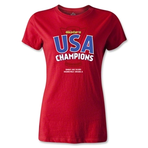 USA CONCACAF Gold Cup 2013 Champions Women's T-Shirt (Red)