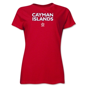 Cayman Islands CONCACAF Distressed Women's T-Shirt (Red)