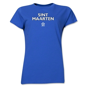 St. Maarten CONCACAF Distressed Women's T-Shirt (Royal)