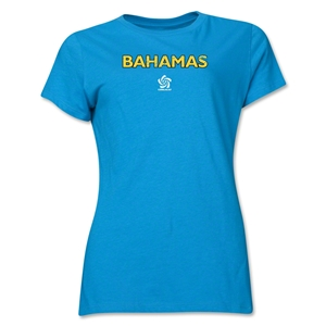 Bahamas CONCACAF Distressed Women's T-Shirt (Turquoise)