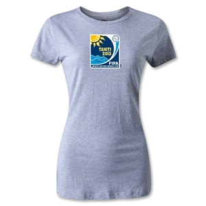 FIFA Beach World Cup 2013 Women's Emblem T-Shirt (Gray)