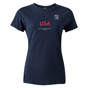 FIFA Beach World Cup 2013 Women's USA T-Shirt (Navy)