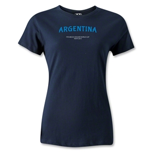 Argentina FIFA Beach World Cup 2013 Women's T-Shirt (Navy)
