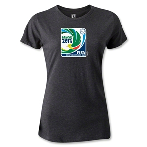 FIFA Confederations Cup 2013 Women's Emblem T-Shirt (Dark Gray)