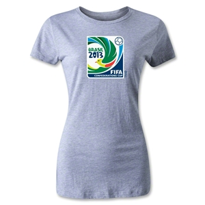 FIFA Confederations Cup 2013 Women's Emblem T-Shirt (Gray)