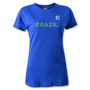 FIFA Confederations Cup 2013 Women's Brazil T-Shirt (Royal)
