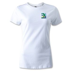 FIFA Confederations Cup 2013 Women's Small Emblem T-Shirt (White)