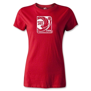 FIFA Confederations Cup 2013 Women's Emblem T-Shirt (Red)