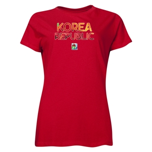 Korea Republic FIFA U-20 Women's World Cup Canada 2014 Women's Core T-Shirt (Red)