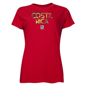 Costa Rica FIFA U-20 Women's World Cup Canada 2014 Women's Core T-Shirt (Red)