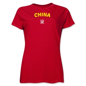 China FIFA U-17 Women's World Cup Costa Rica 2014 Women's Core T-Shirt (Red)