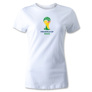 2014 FIFA World Cup Brazil(TM) Emblem Women's T-Shirt (White)
