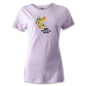 2014 FIFA World Cup Brazil(TM) Women's Mascot T-Shirt (Pink)