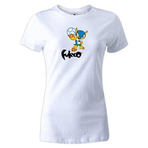 2014 FIFA World Cup Brazil(TM) Women's Mascot T-Shirt (White)