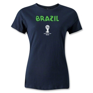 Brazil 2014 FIFA World Cup Brazil(TM) Women's Core T-Shirt (Navy)