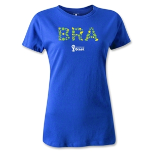 Brazil 2014 FIFA World Cup Brazil(TM) Women's Core T-Shirt (Royal Blue)