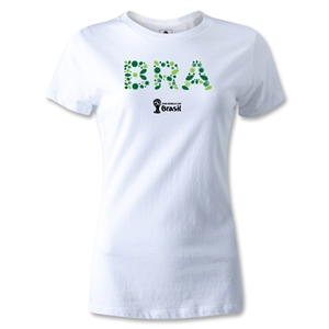 Brazil 2014 FIFA World Cup Brazil(TM) Women's Core T-Shirt (White)
