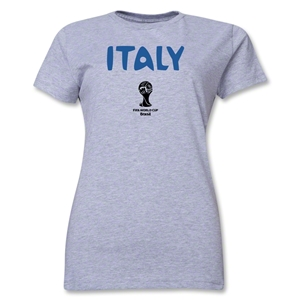 Italy 2014 FIFA World Cup Brazil(TM) Women's Core T-Shirt (Grey)
