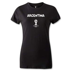 Argentina 2014 FIFA World Cup Brazil(TM) Women's Core T-Shirt (Black)