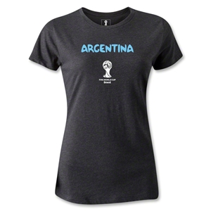Argentina 2014 FIFA World Cup Brazil(TM) Women's Core T-Shirt (Dark Grey)