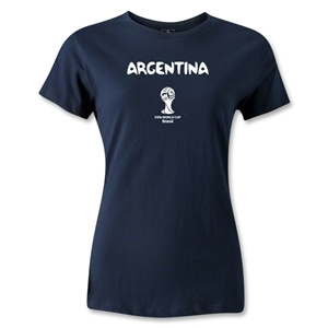 Argentina 2014 FIFA World Cup Brazil(TM) Women's Core T-Shirt (Navy)