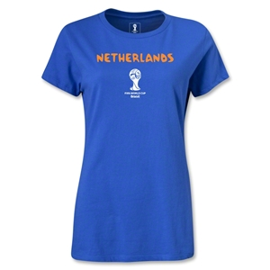 Netherlands 2014 FIFA World Cup Brazil(TM) Women's Core T-Shirt (Royal)
