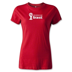 2014 FIFA World Cup Brazil(TM) Women's Landscape T-Shirt (Red)