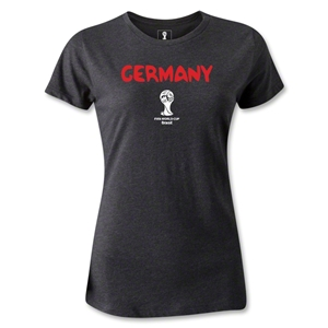 Germany 2014 FIFA World Cup Brazil(TM) Women's Core T-Shirt (Dark Grey)