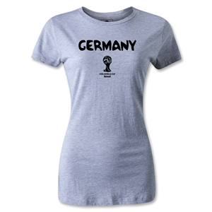 Germany 2014 FIFA World Cup Brazil(TM) Women's Core T-Shirt (Grey)