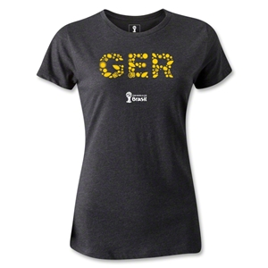 Germany 2014 FIFA World Cup Brazil(TM) Women's Elements T-Shirt (Dark Grey)
