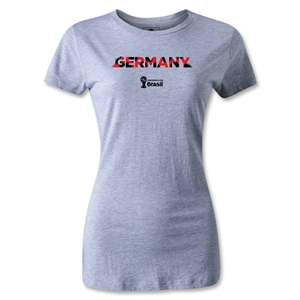 Germany 2014 FIFA World Cup Brazil(TM) Women's Palm T-Shirt (Grey)