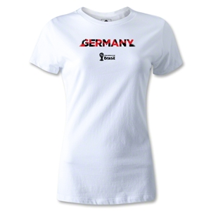 Germany 2014 FIFA World Cup Brazil(TM) Women's Palm T-Shirt (White)