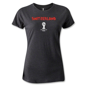 Switzerland 2014 FIFA World Cup Brazil(TM) Women's Core T-Shirt (Dark Grey)