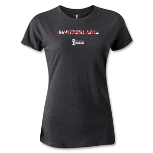 Switzerland 2014 FIFA World Cup Brazil(TM) Women's Elements T-Shirt (Dark Grey)