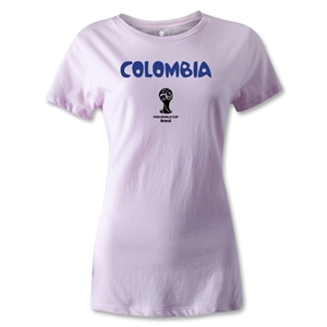 Colombia 2014 FIFA World Cup Brazil(TM) Women's Core T-Shirt (Pink)