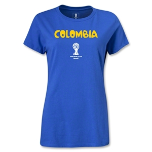 Colombia 2014 FIFA World Cup Brazil(TM) Women's Core T-Shirt (Royal)