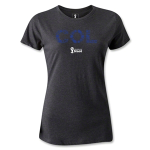 Colombia 2014 FIFA World Cup Brazil(TM) Women's Elements T-Shirt (Dark Grey)