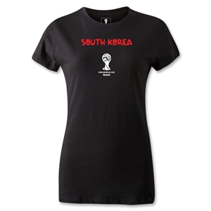 South Korea 2014 FIFA World Cup Brazil(TM) Women's Core T-Shirt (Black)